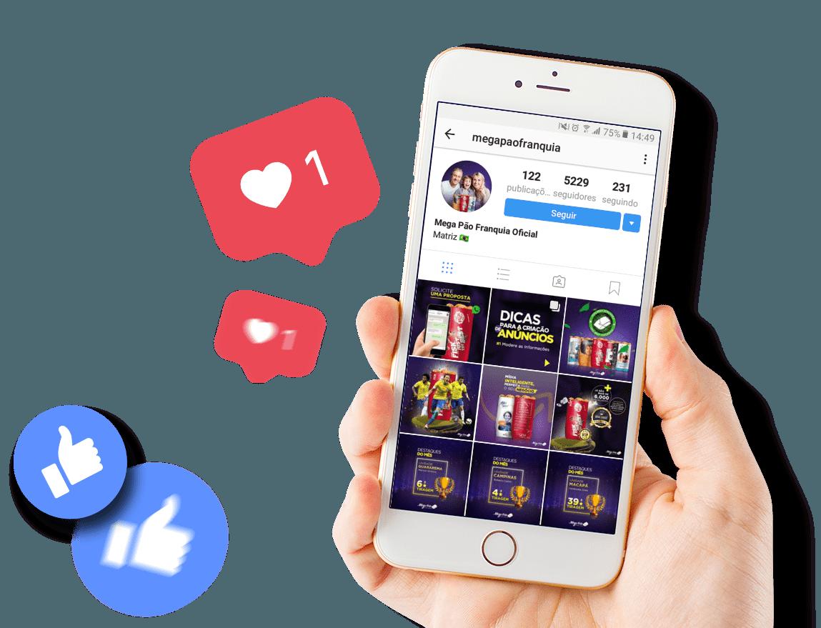 redes sociais mega
